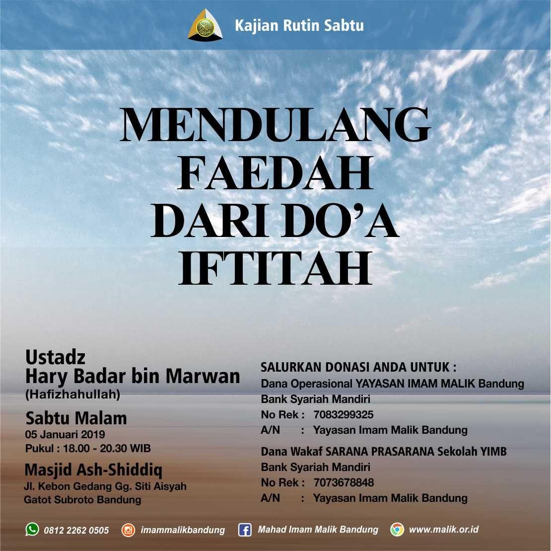 mendulang faidah doa iftitah