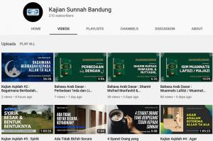 channel youtube kajian sunnah bandung