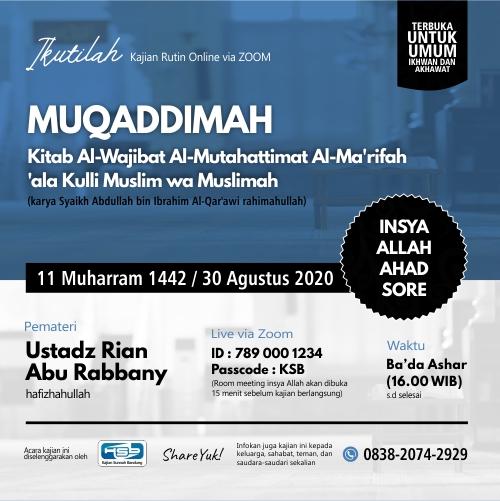 kajian al-wajibat al-mutahattimat (pertemuan #1)